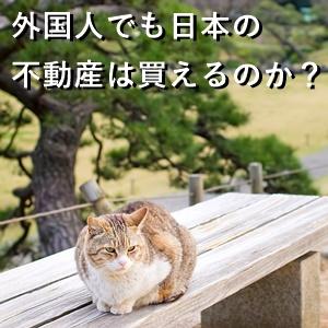 外国人でも日本の不動産は買えるのか?