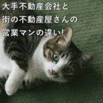 大手不動産会社と街の不動産屋さんの営業マンの違い!