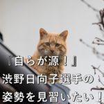 『自らが源!』渋野日向子選手の姿勢を見習いたい!