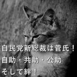 自民党新総裁は菅氏!自助・共助・公助、そして絆!