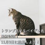 トランプ氏VSバイデン氏最終討論!11月3日に注目しよう!