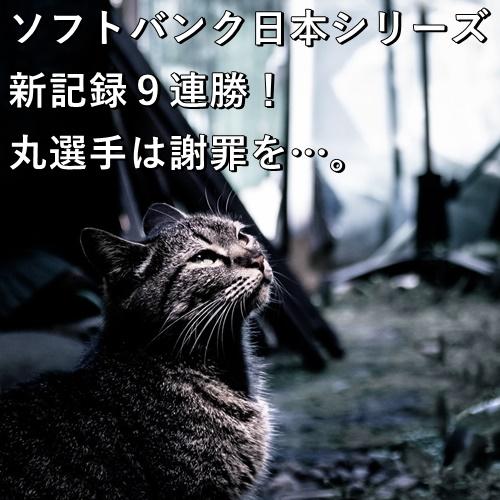 ソフトバンク日本シリーズ新記録9連勝!丸選手は謝罪を…。
