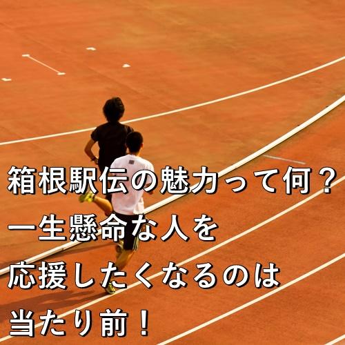 箱根駅伝の魅力って何?一生懸命な人を応援したくなるのは当たり前!
