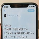 Twitter、24時間で投稿が消える「Fleet」を8月3日に終了へ!シンプルイズベスト!