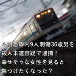 小田急線内9人刺傷36歳男を殺人未遂容疑で逮捕!幸せそうな女性を見ると傷つけたくなった?