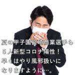 夏の甲子園 宮崎商業選手ら5人新型コロナ陽性!早くはやり風邪扱いになりますように…。